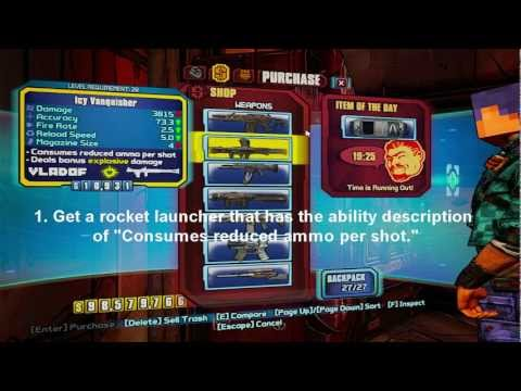 Borderlands 2 Infinite Ammo Glitch! No Mods! (Xbox) (PS3) (PC) | How
