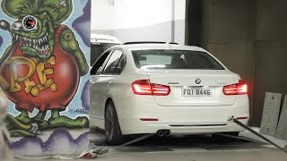 BMW 328i Active Flex no dinamômetro