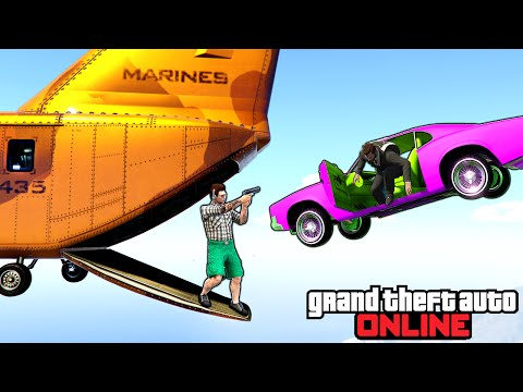 GTA 5: Online - Stunts, Funny Moments & Fails Feat. Sumo Pit