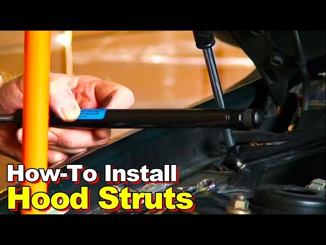How To Install Hood Struts - YouTube