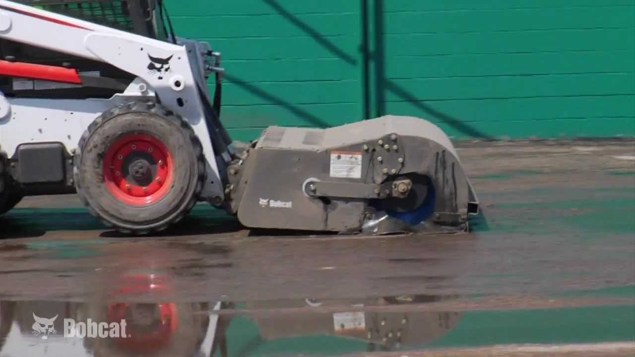 Bobcat Sweeper Attachment Youtube