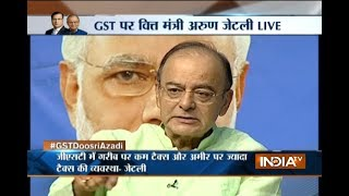 GST Conclave: Editor-In-Chief Rajat Sharma and FM Arun Jaitley take the stage for GST Doosri Azadi