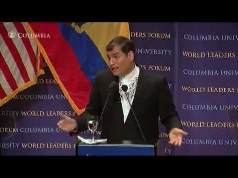 Columbia University Rafael Correa part 2 President of Ecuador