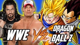 Super Saiyan Goku & Vegeta VS John Cena & Roman Reigns / Dragon Ball Z VS WWE | WWE 2K17 PS4