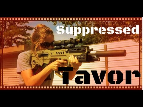 IWI Tavor Bullpup Battle Rifle Review Update: Firing With A Suppressor (HD)
