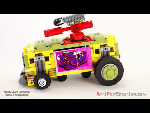 SHELLRAISER STREET CHASE - Lego Teenage Mutant Ninja Turtles 79104 Animated Building Review