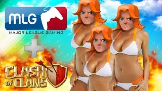 Clash Of Clans - MOM GET THE CAMERA! WTF! (MLG FUNNY + CLASH OF CLANS) ALL SEXY Valkyries Attack!