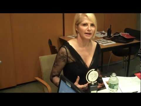Back Stage with Ellen Barkin at the 2011 Tony Awards