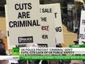Bobbies Protest Austerity Cuts In London
