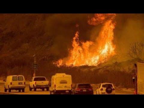 Santa Ana winds feeding dangerous California wildfires