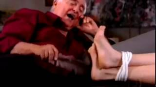 Mainstream woman foot tickle