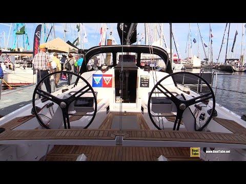 2017 Elan E4 Sailing Yacht - Deck and Interior Walkaround - 2016 Annapolis Sailboat Show