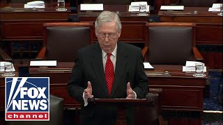 Sen. McConnell speaks on the Senate floor ahead of impeachment trial