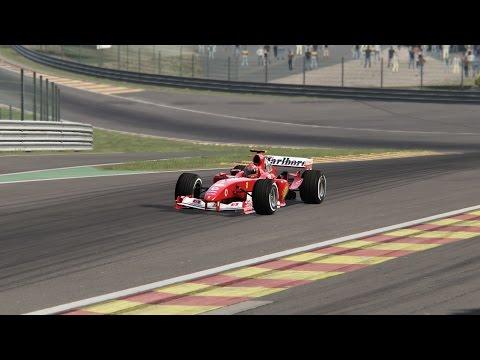 Ferrari F1 2004 M. Schumacher Hotlap@ Spa Assetto Corsa
