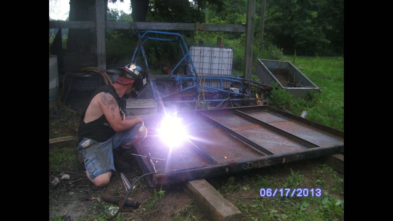 Working And Welding On My Truck Bed Im Building Youtube