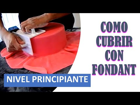 COMO  CUBRIR UNA TORTA CON FONDANT