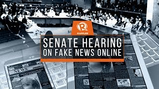 LIVE: Senate hearing on fake news online, 15 March 2018