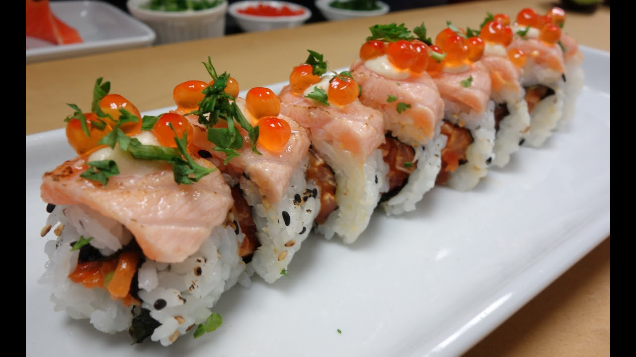 Spicy Salmon Sushi Roll  Tatyanas Everyday Food
