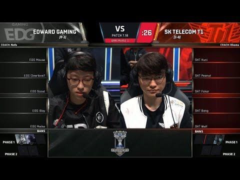 EDG vs SKT - Worlds 2017 Group Stage Day 2 - Edward Gaming vs SK Telecom T1