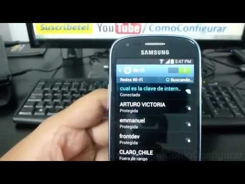 como configurar wifi Samsung Galaxy S3 mini español Full HD
