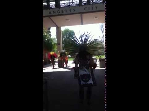Los Angeles City College Danza Azteca presentation at Hands Across California