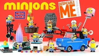 Mega Bloks Minions Motor Mischief Chair-O-Matic Mailroom Mania Copy Chaos & Jelly Jiggle
