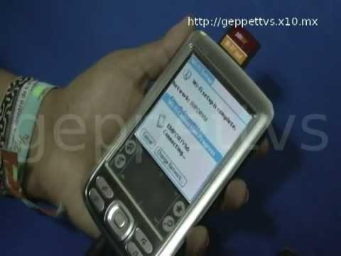 Navegando en la Palm Zire 72 con Wi-Fi Card - Powered by Geppettvs!