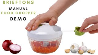 Brieftons Food Chopper: Manual Vegetable Chopper Demo