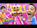 Annoying Spongebob Squarepants Toy Stretch Test! FUNnel Fam Stretchkins Dance Plushies