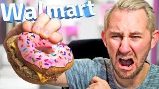 Donut Cheeseburger?! | 10 Strange Walmart Items!