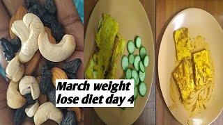 March 15 days weight lose diet, egg diet, low carb diet, day 4