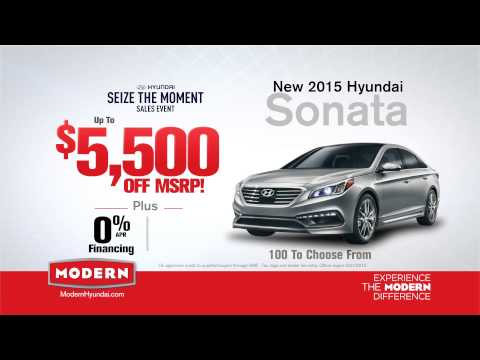 Modern Hyundai Seize The Moment Sales Event