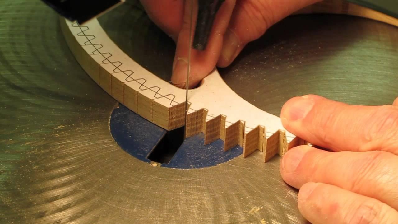 Cutting Wood Gear & Clock Wheel Teeth - YouTube