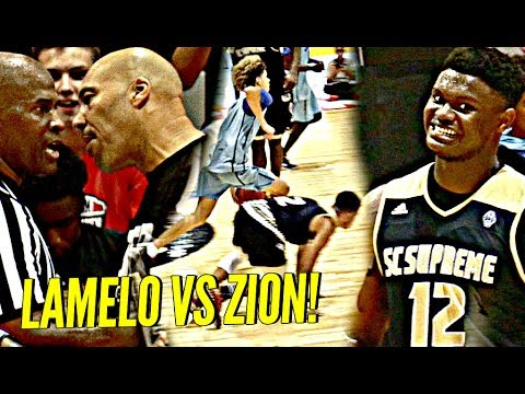 LaMelo Ball vs Zion Williamson WAS INSANE!! Lonzo Ball, Dame Lillard, OSN & INSANE CROWD Watching!
