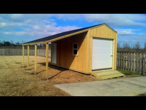 10x20 Shed with Lean-to - Shed Plans - Stout Sheds LLC