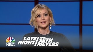 Jennifer Lawrence Threw Up at a Fancy Oscars After Party - Late Night with Seth Meyers