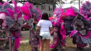 Mardi Gras Indians on Super Sunday