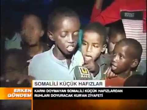Somali Children In Drought Reciting Quran video