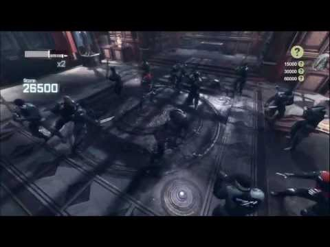 BATMAN ARKHAM CITY - DLC WAYNE ARMOURY CHALLENGE - HD GAMEPLAY