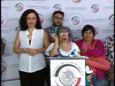 Conferencia de prensa de la Sen. Gómez del Campo sobre la delegación Azcapotzalco