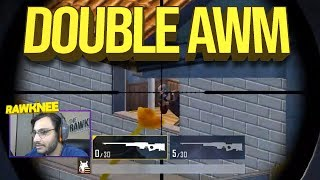 DOUBLE AWM + 8x CHICKEN DINNER | PUBG MOBILE HIGHLIGHTS | RAWKNEE