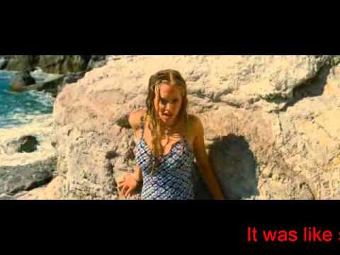 Amanda Seyfried Dominic Cooper singing Lay all your love on me from ABBA in Mamma Mia with Meryl Streep and Pierce Brosnan.