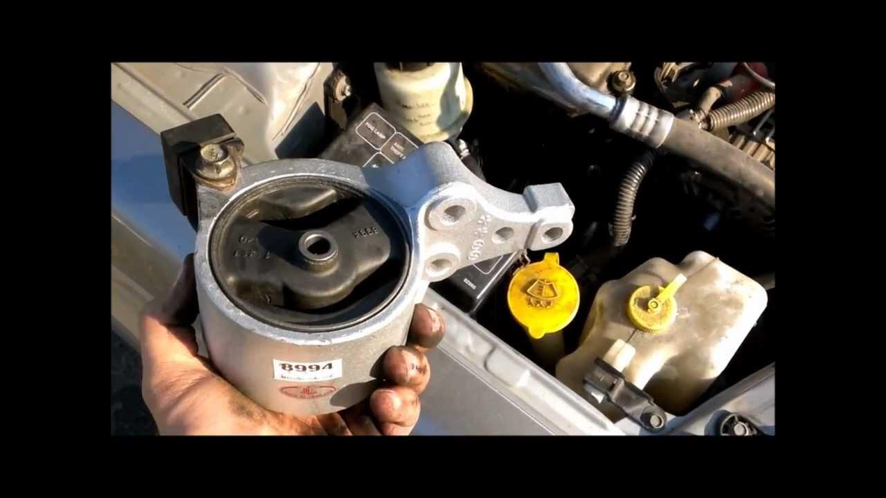 hydraulic motor mount replacement video nissan