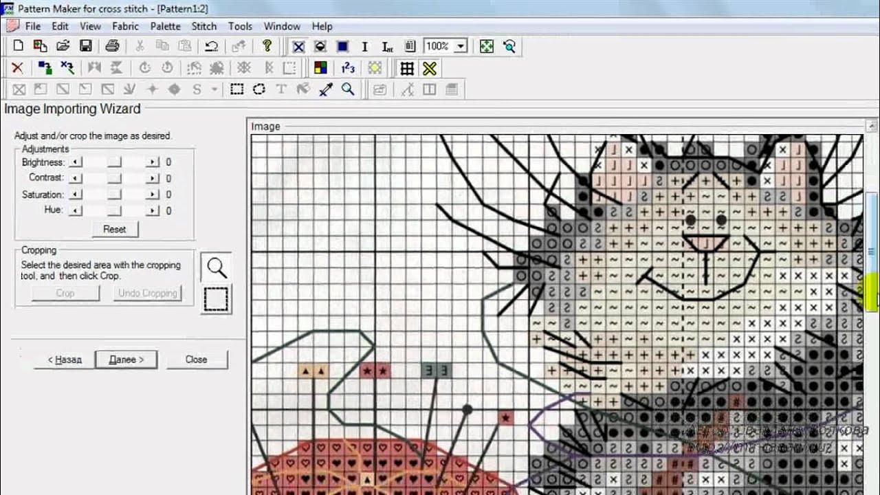 Как сделать схему по в pattern maker
