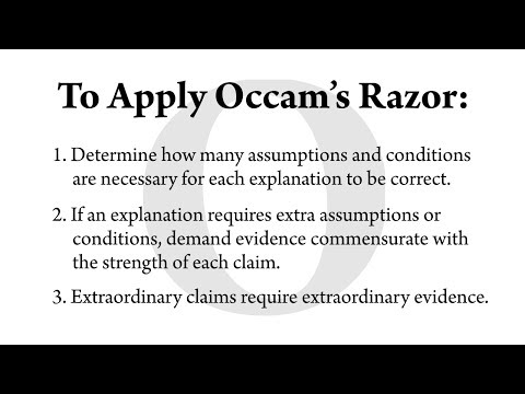How To Apply Occam's Razor