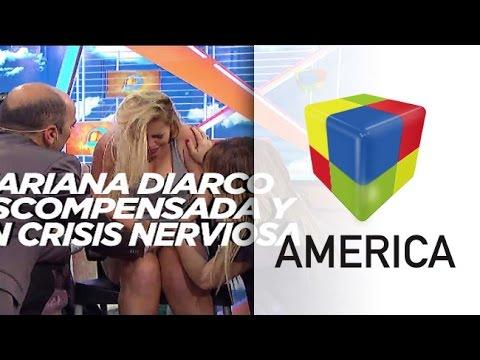 Mariana Diarco tuvo un ataque de nervios y se descompensó en vivo