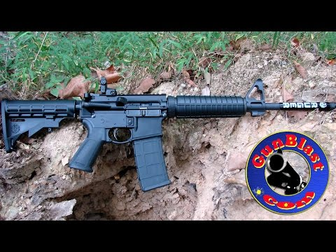 Shooting the Ruger AR-556 Gas-Impingement 5.56mm Semi-Automatic Rifle - Gunblast.com