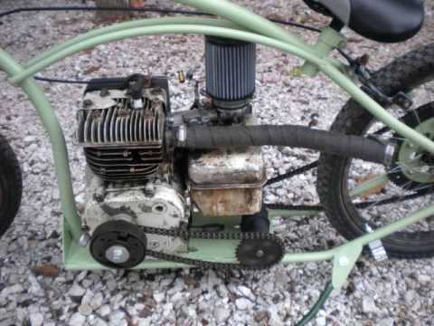 homemade briggs mini bike - YouTube