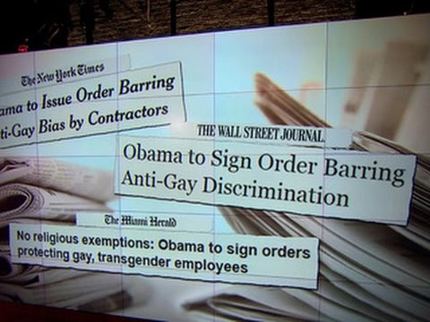 Obama to sign executive orders on LGBT discrimination