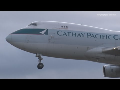 Cathay Pacific (CX/CPA) Cargo Boeing 747-400F B-HUO 成田国際空港 着陸 2016.3.27
